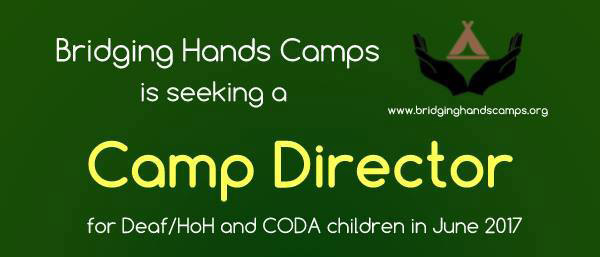 Advertisement for Camp Director Position