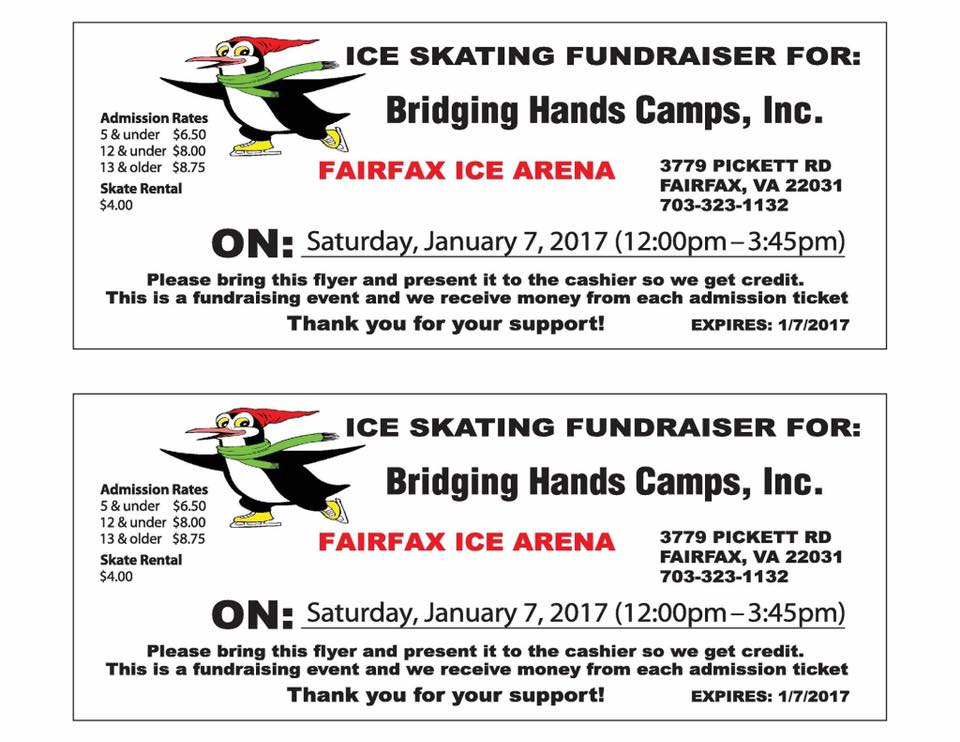 Voucher for ice skasting fundraiser